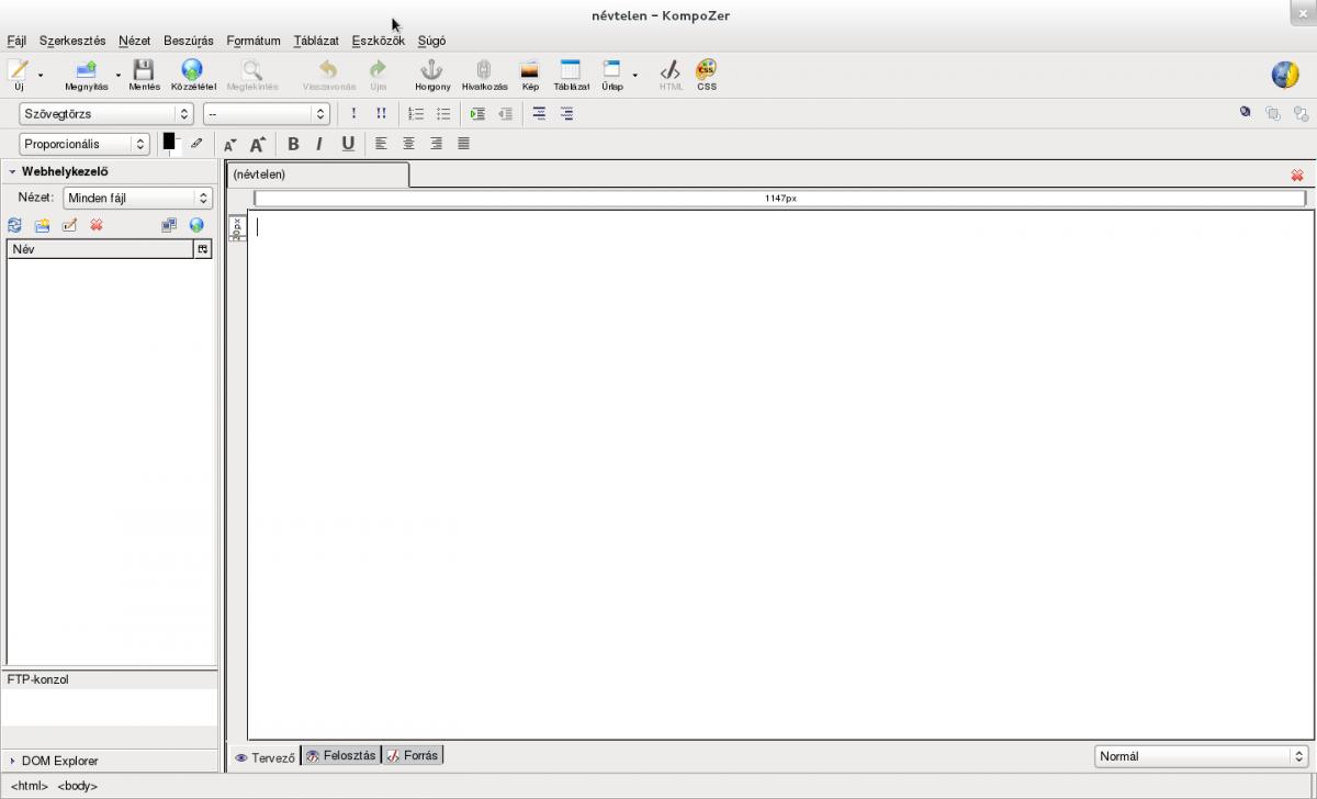 ad3c458496 ... amely a webes fájlkezelést és a könnyen használható WYSIWYG* típusú  webszerkesztést foglalja magában. Két ablakban folyik a szerkesztés, a  látvány és a ...